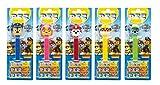 PEZ Spender Set Paw Patrol (5 Spender mit je 3 PEZ Bonbons á 8,5g) + 1 Nachfüllpack (8 PEZ Bonbons á 8,5g)