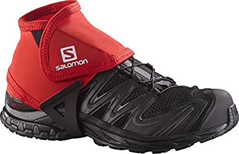 Salomon Gaiters (1 Pair) for Hiking and Trail Running - Short, Synthetic blend, Red, M