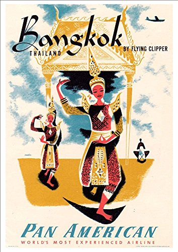 pan-am-bangkok-wonderful-a4-glossy-art-print-taken-from-a-rare-vintage-travel-poster