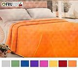 EMMEVI Bettüberwurf Nestchen, einfarbig, waschbar, für Einzelbett, 2 Piazze (250x260cm) violett