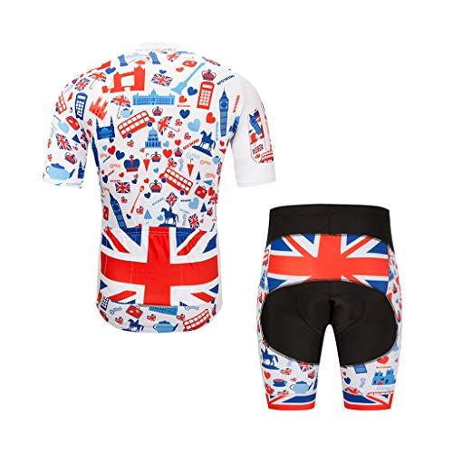 ZHAO YING Radsportbekleidung für Männer Mountainbike Rennrad Shirt Jeresys Pants Padded Bike Jakcet Outfit (Color : B, Size : XXXL)