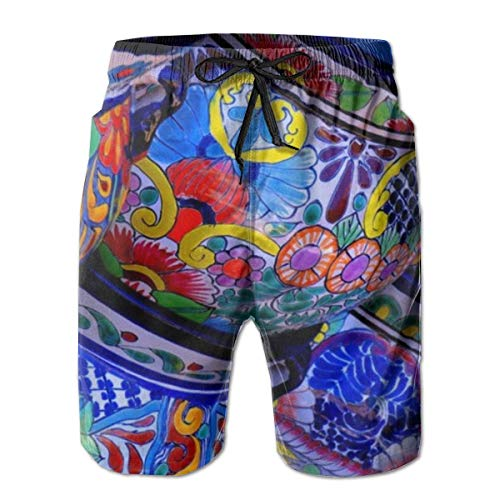 best gift Men Swim Trunks Breathable Quick Dry Drawstring Board Shorts with Pockets Medium -