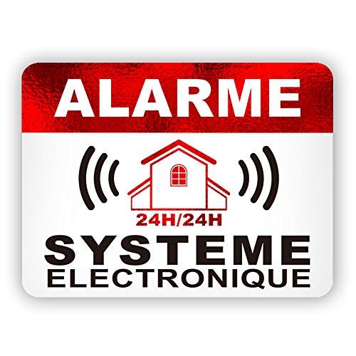 Autocollants dissuasifs Alarme Stickers Alarme...