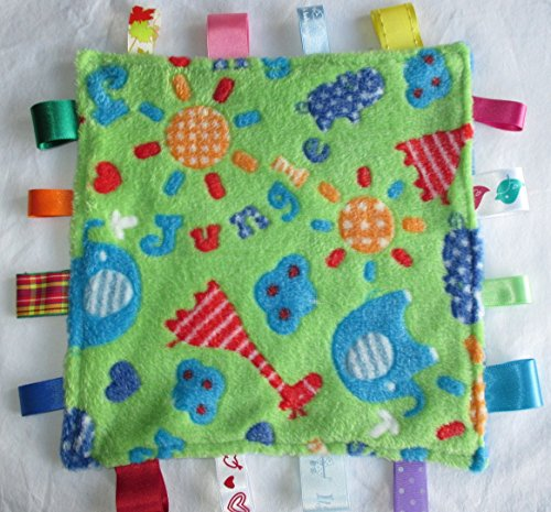 Nannasue Baby taggie security comfort blanket - Green Jungle