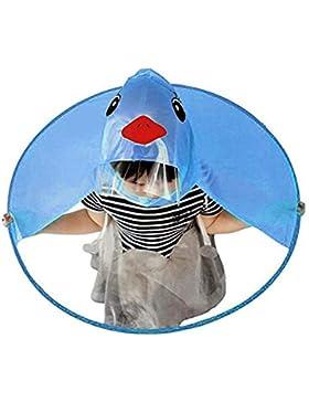 Derkoly - Gorro de lluvia con capucha y capucha para niños, diseño de pato, plegable