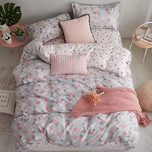 SJRYXCD Bettwäsche Sets Tröster Bettzüge Geometrische Muster Bett Linen Cotton/Polyester Duvet Cover Bed Sheet Pillowcases Cover Set könig Farbe 14 (König Cotton Bed Sheet Sets)