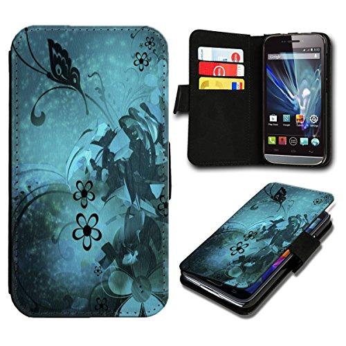 Book Style ZTE Blade S6 Premium PU-Leder Tasche Flip Brieftasche Handy Hülle mit Kartenfächer für ZTE Blade S6 - Design Flip SB611