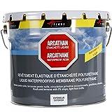 Arcathan-Rivestimento impermeabile per tetto, terrazza, in resina, poliuretano, grigio