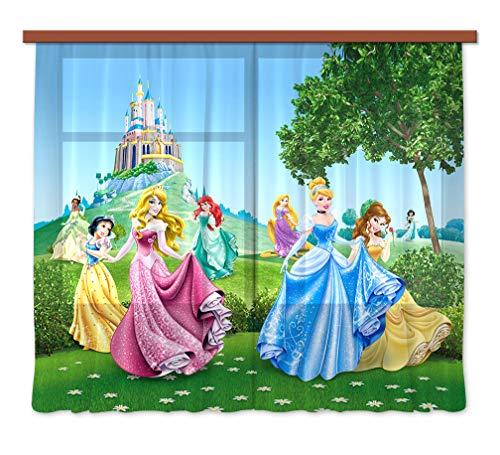 Gardine/Vorhang FCS XXL 7016 Disney, Princess, 280 x 245 cm, 2-teilig