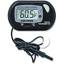 Hosaire Termómetro de agua digital LCD para el terrario Acuario Vivarium -50 ~ + 70 ℃