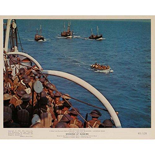 Tarjeta de fin de semana en Dunkerque vestíbulo N6de 8x 10en.–1964–Henri Verneuil, Jean-Paul Belmondo