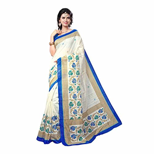 Floral Print Assam Silk Cotton, Silk Saree (Multicolor) (Floral Silk Print)