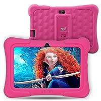 Dragon Touch Y88X Plus - Tablet Infantil de 7 Pulgadas ( SO Android Lollipop , 178° Vista Pantalla , 8G , Funda Alta Protección para Niños con Soporte ) Incluye Kidoz Versión Desbloqueada Pre-instalado , Rosa [ 2017 Modelo Nuevo ]