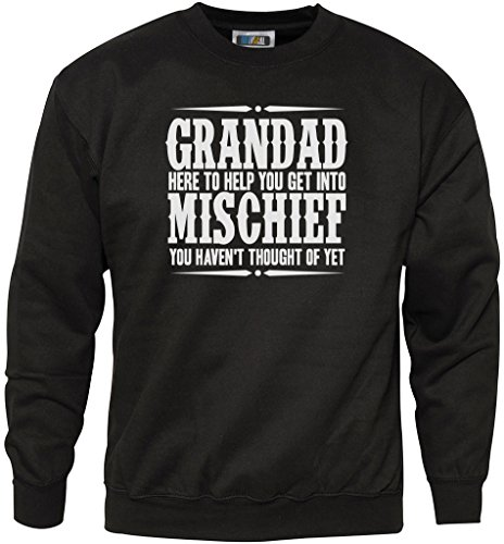 Grandad Here To Help You Get Into Mischief - Youth & Mens Sweatshirt - gift for grandad gift for grandpa grandad gifts grandpa gifts grandad t shirt - XXL ...