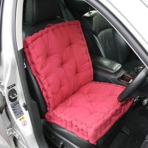 Preisvergleich Produktbild Homescapes komfortables Reisekissen Autokissen, 50 x 50 x 12 cm, 100% reine Baumwolle mit atmungsaktiver Polyester Füllung, rot