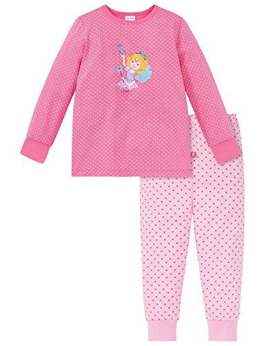 weiteiliger Schlafanzug Prinzessin Lillifee Md Anzug Lang, Rot (Rosa 503), 128 (Mädchen-prinzessin-nachthemd)