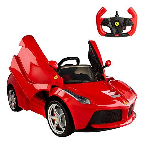 Rastar-Voiture électrique dirigé Ferrari LaFerrari Rouge DE 12V, 2.4G Multicolore...