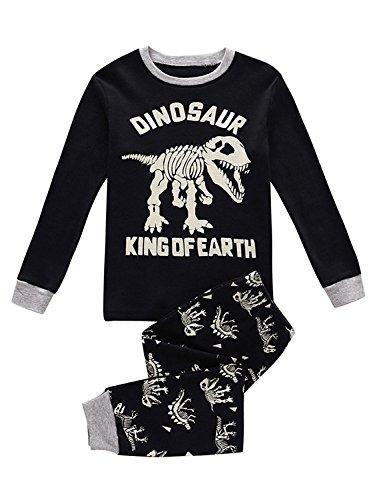 Kinder Dinosaurier Pyjamas Sets Kinder Kleidung Set Jungen Baumwolle Kleinkind Pjs Nachtwäsche 1-2Y (Weihnachten Kinder Pjs Für)