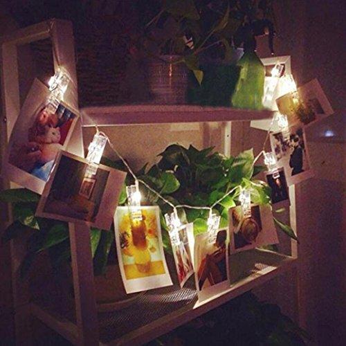 Kanpola 10 LED Klemme Hohle Schnur Licht Im Freien Weihnachten Hochzeit Party Bilder Dekor Lampe 1.2 M