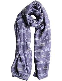 Purple Mauve Camper Van Scarf Ladies Fashion Scarves