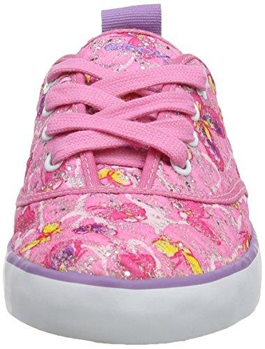 Geox J Ciak G E, Baskets mode fille Rose (Pink)