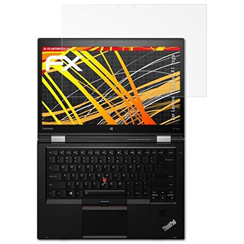 atFolix Schutzfolie kompatibel mit Lenovo ThinkPad X1 Yoga Displayschutzfolie, HD-Entspiegelung FX Folie (2X) (2 Display-schutzfolie Thinkpad)