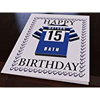 21fca9440cc MyShirt123 AVIVA PREMIERSHIP RUGBY UNION CLUB JERSEY PERSONALISED BIRTHDAY  CARD - ANY NAME, ANY NUMBER