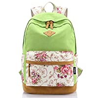 BBWAY Canvas Lightweight Student Backpacks for Girls School Bags