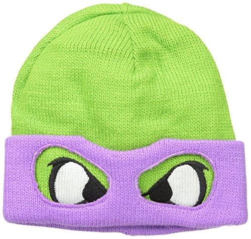 Elbenwald Retro Turtles - Donnie Face Beanie (Turtle Augen Ninja)