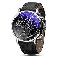Mallom Luxury Fashion Crocodile Faux Leather Analog Watch Men's Wristwatches