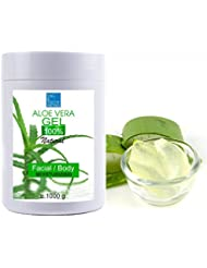 100% Natural Gel d'Aloe Vera 1000 ml Excellent hydratant Visage & Corps Cheveux - Calmant Aprés Epilation