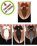 AEC - Mo925/poivresel - Moustaches Luxe Mousquetaire Avec Bouc Rousses