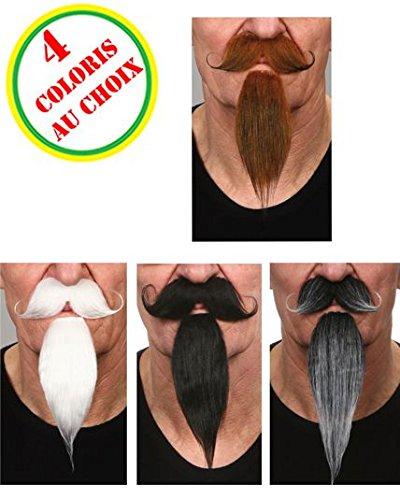 AEC MO925/ROUX - Moustaches luxe mousquetaire avec bouc rousses