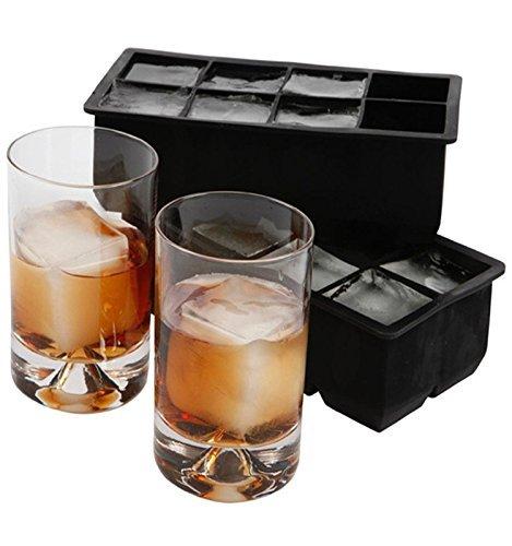2er Pack XXL-Eiswürfelform für je 8 Eiswürfel, 5x5 cm Eiswürfel, riesige Eiswürfelform - 10 Jahre Garantie