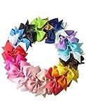 Profun 10pz Kids Hair Bows Ribbon Bow multicolore capelli clip a coccodrillo per bambino Gilrs Toddlers
