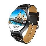 Limiz Smartwatch HD-Touchscreen Präzise Positionierung Echtzeit-Wetter 1,3 GHz Quad-Core-Runde Bildschirm Herzfrequenz-Überwachung GPS-Positionierung Wettervorhersage KW98 (Color : C)