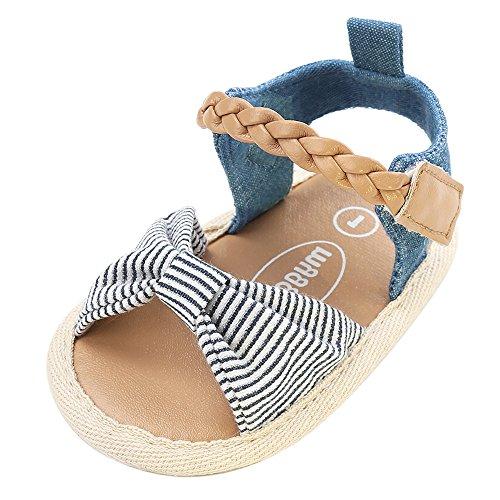 Topgrowth Scarpe Bambino Sandali Intrecciati Scarpe Casual Fiocco Suola Morbida Sneaker Antiscivolo Sandali bambini Primigi (12, Blu)