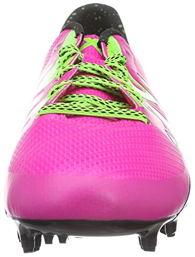 adidas X Fg/Ag Terrain Souple/Synthétique, Chaussures de Football Amricain Homme Rose (Shock Pink S16/Solar Green/Core Black)