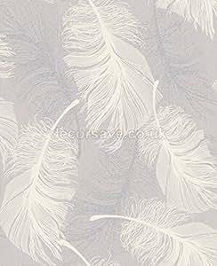 coloroll tapete feder m1072 federn einsehbar glitzer lila wei silber baumarkt. Black Bedroom Furniture Sets. Home Design Ideas