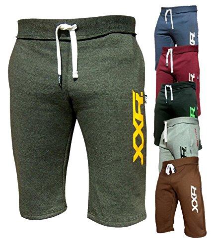 XXR Mens Fleece Shorts Jogging Bottom Joggers MMA Boxing Gym Fitness Sweat Shorts Casual Home Wear