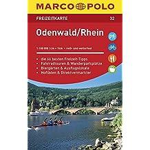 MARCO POLO Freizeitkarte Blatt 32 Odenwald, Rhein 1:100 000: im Dispenser mit 10 Exemplaren (MARCO POLO Freizeitkarten)