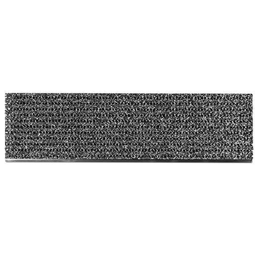 etm Stufenmatten außen | Treppen Rutschschutz mit Alu-Schiene | Antirutschmatten mit patentierter PVC-Granulat-Schicht | 2 Farben & Größen (anthrazit, 24 x 60 cm)