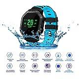 JASZHAO IP68 Wasserdichte Bluetooth Smart Watch, Multiple Sports Modes/Running/Cycling/Schwimmen/Fitness/Herzfrequenz-Monitore/Für Android IOS,A