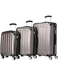 Zwillingsrollen 3 tlg.2045 neu Reisekofferset Koffer Kofferset Trolleys Hartschale in 12 Farben