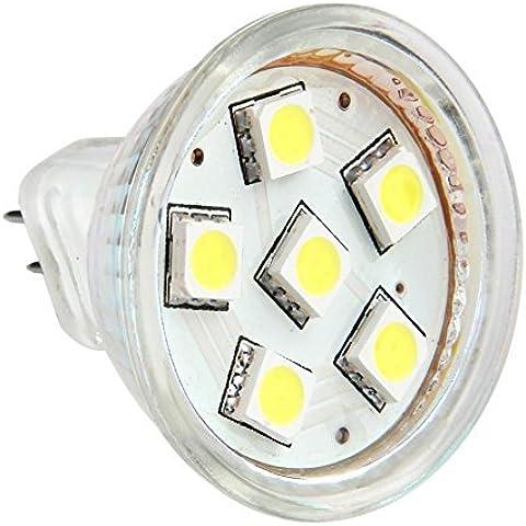 12Vmonster Ac Dc 12V24V 1,5W Bianco Freddo 6X 5050Grappolo Lampadina LED MR11GU4Bi Pin Lampada