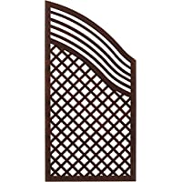 Andrewex wooden fence, privacy, garden fence, fencing panel 120/180 x 90, varnished, brown