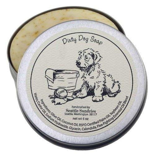 Seattle Sundries Dirty Dog Seife-Solid Shampoo Bar, 100% natürliche & Handarbeit, in wiederverwendbaren Travel Geschenk Zinn -