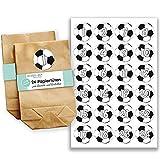 Papierdrachen Adventskalender Set - 24 braune Papiertüten und 24 Fußball Zahlenaufkleber - zum Selbermachen und Befüllen - Mini Set Nr 47 - Weihnachten 2018