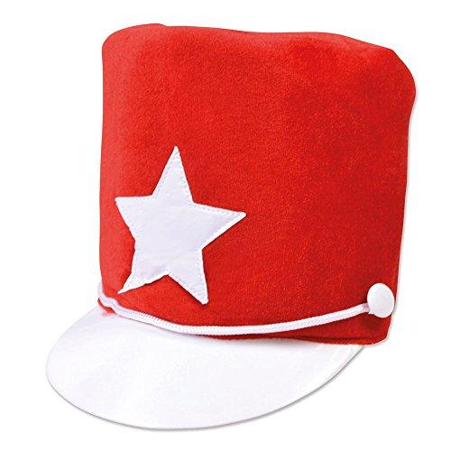 2Majorette Hat Rot aus weichem Filz, One size ()