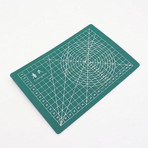 Laileya 21 * 15 cm Dunkelgrün A5 Selbstheilung Cutting Pad Handbuch DIY Werkzeug Schneidebrett Doppelseitiges Nutzbare Schneidebrett (Schneidebretter Gravieren)